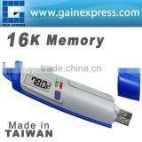 USB Temperature datalogger w/ LCD display 16K memory Made in Taiwan