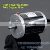 120W 24V 3500RPM High Power High Torque Two Ball Bearing DIY DC Motor with Pure Core Wire Low Noise