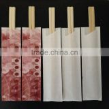 wholesale quality tableware disposable bamboo chopsticks with paper sleeve in bulk with high quality