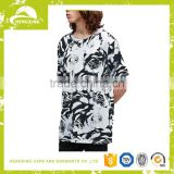 China T Shirt Factory Custom Fashion Men's Long Floral T shirt