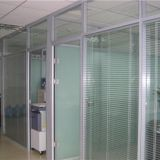 ffice Partition with Inserted Motorzied Venetian Blinds Insert Insulated Tempered Glass