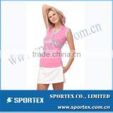 Wholesale Active Sportswear White Ladies Golf Clothing MZ0102