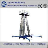 Aluminum alloy hydraulic lifting platform for window cleaning