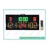 Sports Electronic Basketball Score Board , Portable Led Stadium Scoreboard