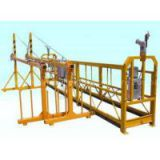 Customized 9M Adjustable Steel Yellow Powered Suspended Platform Cradle Scaffold Systems