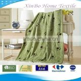 2013 Jiande Dog Paw Printing Cartoon Coral Fleece Children Blanket & Bed Sheet