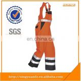 Hi Vis Multi Norm Protection Bib and Brace red bib overalls Workwear with reflective tape