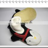 hot sale colorful soft penguin high cut animalr baby slippers