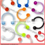colorful uv acrylic captive bead ring with balls lip rings earrings nose ring body piercing jewelry