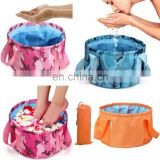 Portable Folding Wash Basin Footbath Water Bag Sink for Traveling and Camping