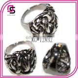 2014 fashion stainless steel textured rings handcuff ring