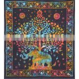 Elephant Tree Tapestry with Good Luck Elephant Tapestry Hippie Gypsy Wall Hanging Tree of Life Tapestry