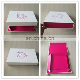 It's Really Beautiful Flat Packed Folding Paperboard Boxes Custom Lingerie and Clothing Packaging Box