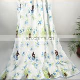 China supplier wholesale reactive printing cotton four-player gauze baby blanket