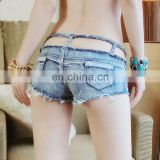 Bandage Tassel Sexy Jeans Shorts Low Rise Waist Micro Mini Hot Shorts Hollow Denim Booty Short Vintage Cute Bikini Culb Wear