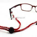 Custom woven round lanyard for glasses