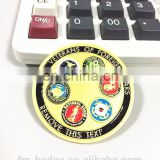 Diamond Cutting Cloisonne Imprint Text Edge Military Challenge Coin,foreign wars gold plating coin