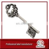 Promotional Cheap Keyring Type Custom Metal Wedding Souvenir Antique Black Vintage Key Opener
