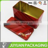 wholesale rectangular custom metal comestic packaging tin box manufacturer