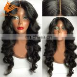 "Factory wholesale 26"" body wave 100 brazilian virgin human hair full lace wig with baby hair"