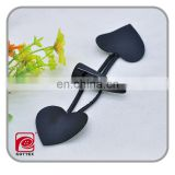horn toggle button with heart shaped leather,imitation button made from polyester/plastic