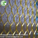 One way vision aluminum mesh screen