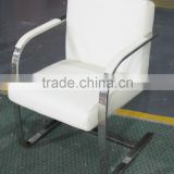 Replica graceful European Design stainless steel genuine leather Brno Chair byLudwing Mies Van der Rohe for office