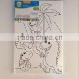 Stretched canvas set with painting and brush for kids DIY                                                                         Quality Choice