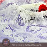 Woman garment accessories transparent micro fiber polyester white 130-135cm width mesh lace fabric
