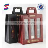 Non Woven Wine Carrier Bags Jute Fabric Wine Bag