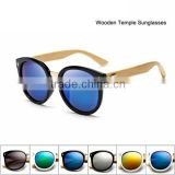 New Round Handmade Bamboo Sunglasses Leg Fashion Wood Sun Glasses Cool Eyewear Retro Vintage Eyeglasses
