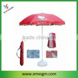 Hello kitty 2 Folding Beach Umbrella with shoulder carry bag