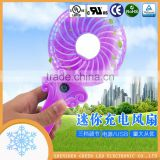 Shenzhen factory Rechargeable portable mini desk fan,mini handy fan,mini toy fan