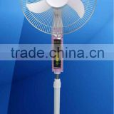 "16""Rechargeable stand fan (DC/battery /solor fan)"