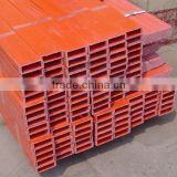 China jiangsu jiangyin fiberglass composite plastic 50mm rectangular square tube profiles