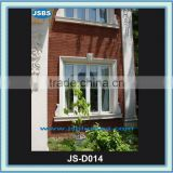 Carved Decorative White Classical Marble Window Frame