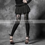 K-144 Fashion Women Sexy Good Elestic Flocking bind lace leggings