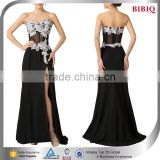 fashion design lace abaya lace applique embroidery designs black sexy see through evening dress