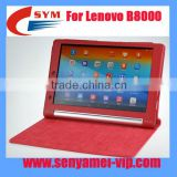 Factory Protective yoga 10 inch tablet for Lenovo B8000 case leather, For B8000 leather case