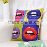 SEXY LIPS, Cotton & Linen Cushion Covers, Sofa Pillow Cases, Pillow Covers 45x45cm, Wholesales & Retails