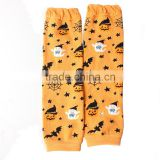 Halloween Baby Leg Warmers Wholesale Orange Pumpkin Kids Heated Knitting Leg Warmers For Children