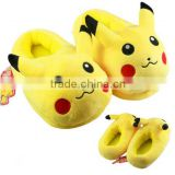 Anime Cartoon Pikachu Plush Shoes Home Winter Slippers For Children