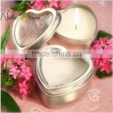 Heart Shape Scented Candle in Tin Box/ Metal Heart Shape Tin Candle/ Scented Candle/ Candles in Bulk