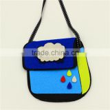 kid wholesale fabric wool felt cute bag gift small candy belt bag