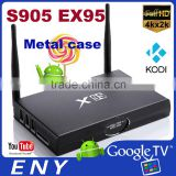 Metal Case EX95 Kodi 15.2 Android Ott TV Box S905 Chipset Blutooth 4.0 1GB DDR3 IPTV Set Top Box