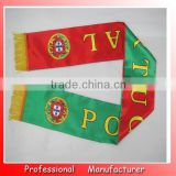 knitting scarf,striped polyester football scarf direct supplier,2 colors magic flag scarf