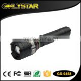 Onlystar GS-9458 military tactical focusing powerful rechargeable long range led zoomable flashlight