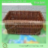 Liuqing wholesale simple white corner wicker storage basket for home or office storage with neat liner