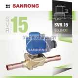 SVR15 EVR15 High Pressure Diaphragm Operated Brass Solenoid Valve with 24V 220VAC 220V AC Coil for Refrigeration Air Conditioner