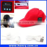 Factory Price Phone Accessory: Wireless Bluetooth Sport Cap/Hat. Music Headset Earphones Canvas Baseball Cap Hat